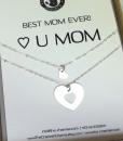 מתנה לאמא שרשרת לב מתנה לאמא ליום הולדת the charmer  (1)