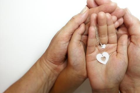 מתנה לאמא שרשרת לב מתנה לאמא ליום הולדת the charmer  (2)