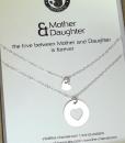 מתנה לאמא ליום הולדת שרשרת לבבות כסף מתנה לאמא ליום האם the cha (3)