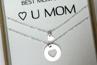 מתנה לאמא ליום הולדת שרשרת לבבות כסף מתנה לאמא ליום האם the cha (4)