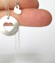 מתנה לאמא ליום הולדת שרשרת לבבות כסף מתנה לאמא ליום האם the charmer (1)