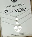 רעיון למתנה לאמא שרשרת לבבות מכסף מתנה לאמא ליום הולדת the char