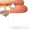 רעיון למתנה לאמא שרשרת לבבות מכסף מתנה לאמא ליום הולדת the charmer (1)