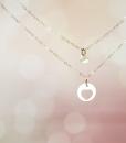 רעיון למתנה לאמא שרשרת לב עדינה מכסף מתנה לאמא לחג the charmer (1)