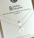 רעיון למתנה לאמא שרשרת לב עדינה מכסף מתנה לאמא לחג the charmer  (2)