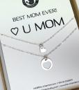 רעיון למתנה לאמא שרשרת לב עדינה מכסף מתנה לאמא לחג the charmer  (3)