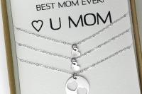 שרשרת לבבות מכסף שרשרת אישית שרשרת שם מתנה לאמא the charmer (3)