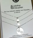 שרשרת לבבות מכסף שרשרת אישית שרשרת שם מתנה לאמא the charmer (4)