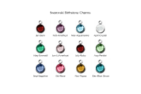 Birthstone Personalized jewelry hand stamped jewelry The Charmer Charms